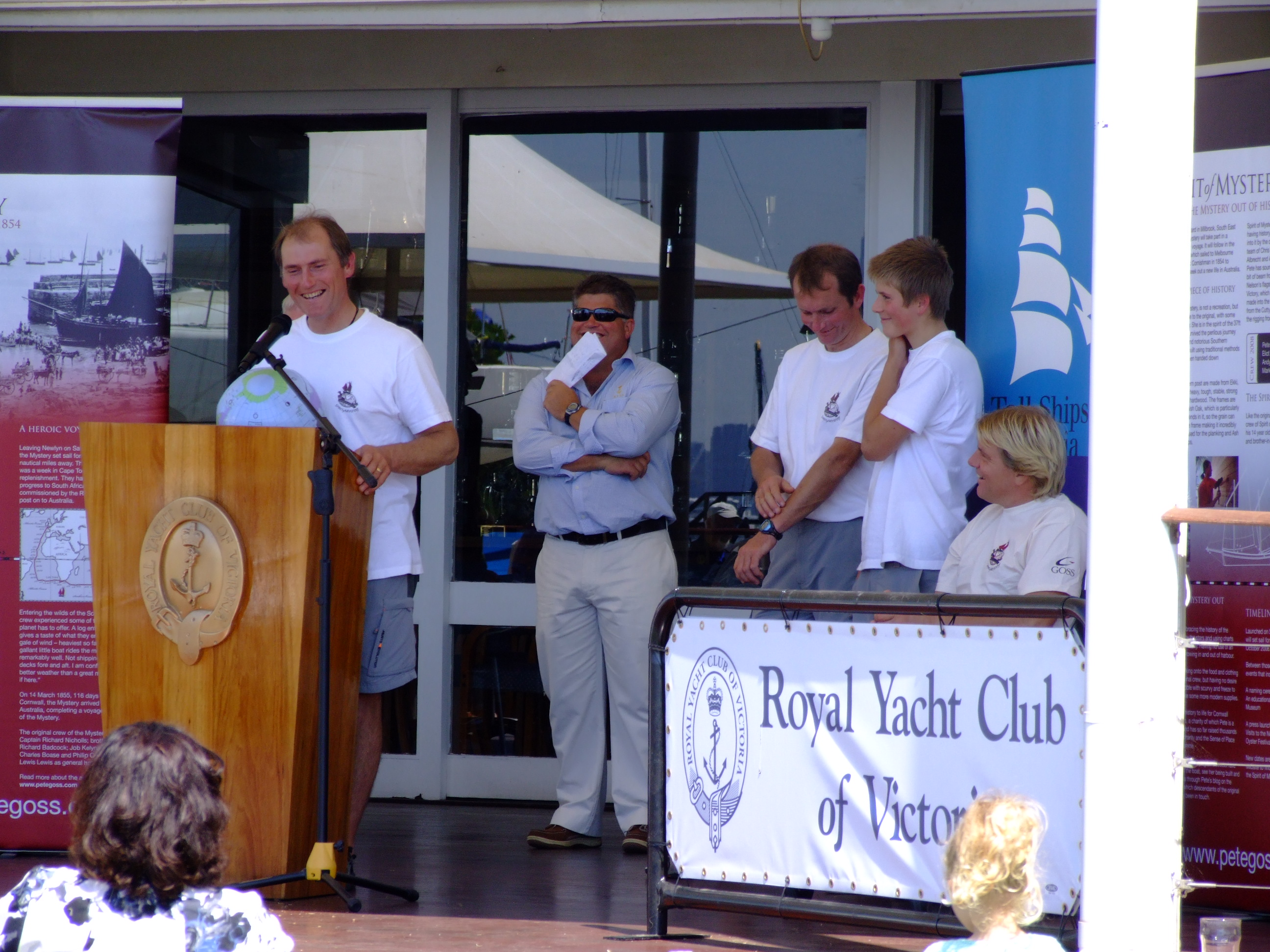 Pete Goss Speaking at Royal Victoria Yacht Club