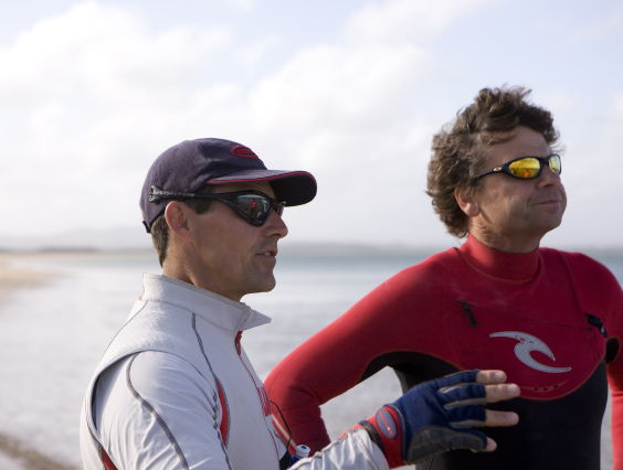 Tim Daddo (left) and Simon Mckeon (right) Before Record Run (Photo By Steb Fisher)