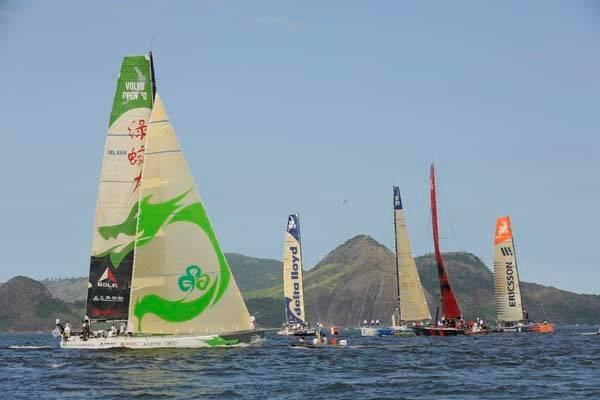 Start of Leg 6 Rio to Boston (Photo By Rick Tomlinson / Volvo Ocean Race)