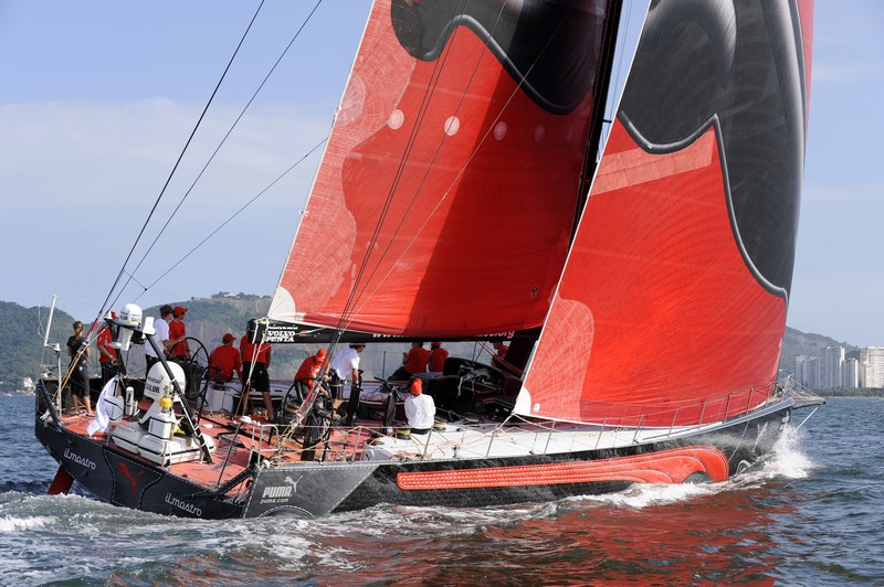 PUMA Ocean Racing, skippered by Ken Read (USA) at the start of leg 6 of the Volvo Ocean Race, from Rio de Janeiro to Boston (Photo By Rick Tomlinson / Volvo Ocean Race)