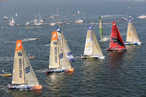 Start Line For Galway In-Port Race (Photo by Rick Tomlinson)