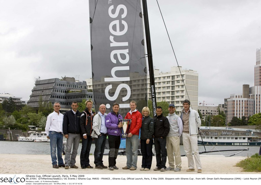 iShares Skippers at Official Launch in Paris Today (Photo By Thierry Martinez / Sea & Co / OC Events / iShares Cup