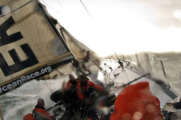 Ericsson 4 Before They Wipeout (Photo By Guy Salter / Ericsson 4 / Volvo Ocean Race