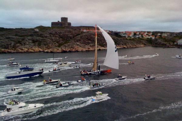 Ericsson 4 Crossing The Finish Line In Marstrand (Photo by Rick Tomlinson)