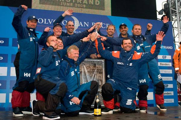 Ericsson 4 On Podium After Winning Leg 8 In Marstrand (Photo by Dave Kneale / Volvo Ocean Race)