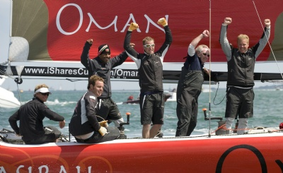 Masirah Crew Celebrate Round Island Race Win (Photo by onEdition2009)