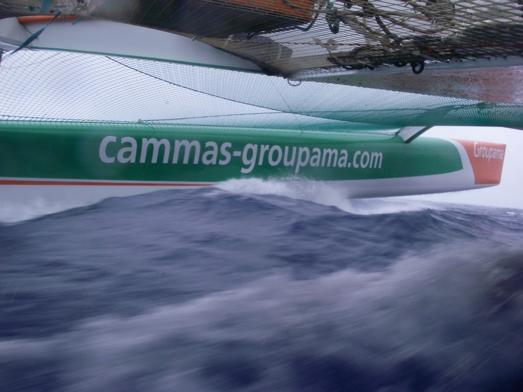 Groupama 3 Crossing The Atlantic Headed For New York (Photo by Loic Dorez)
