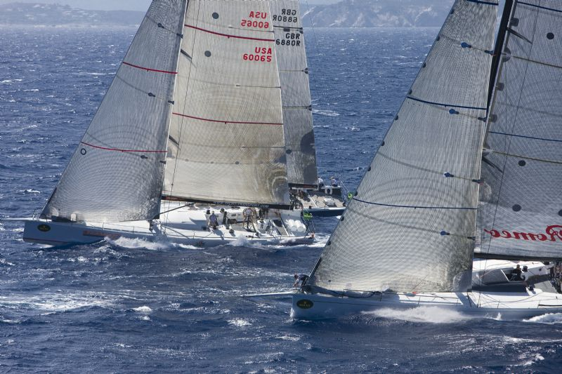 ALFA ROMEO 3 and ROSEBUD In Rolex Maxi Yacht Cup 2008 (Photo by Rolex/Daniel Forster)