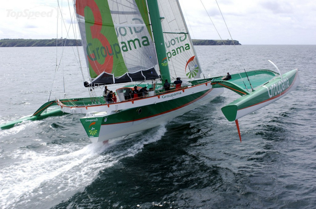 Groupama 3 Finishing Atlantic Crossing (Photo by Alex Julian)