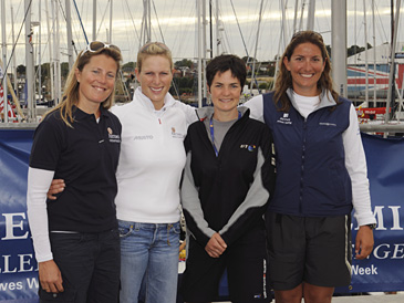 Sam Davies, Zara Phillips, Dame Ellen MacArthur and Dee Caffari At Artemis Challenge (Photo by Mark Lloyd)