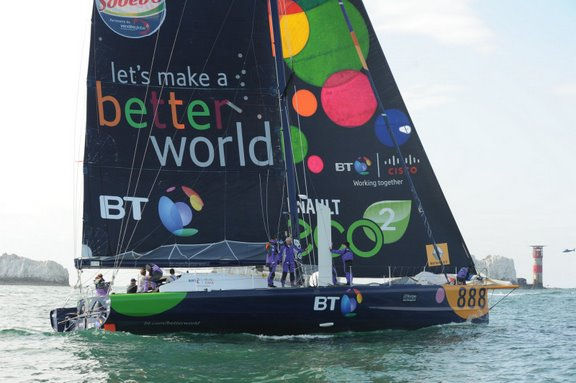 Seb Josse and IMOCA 60 BT  (Photo Courtesy of Offshore Challenges Sailiing Team)