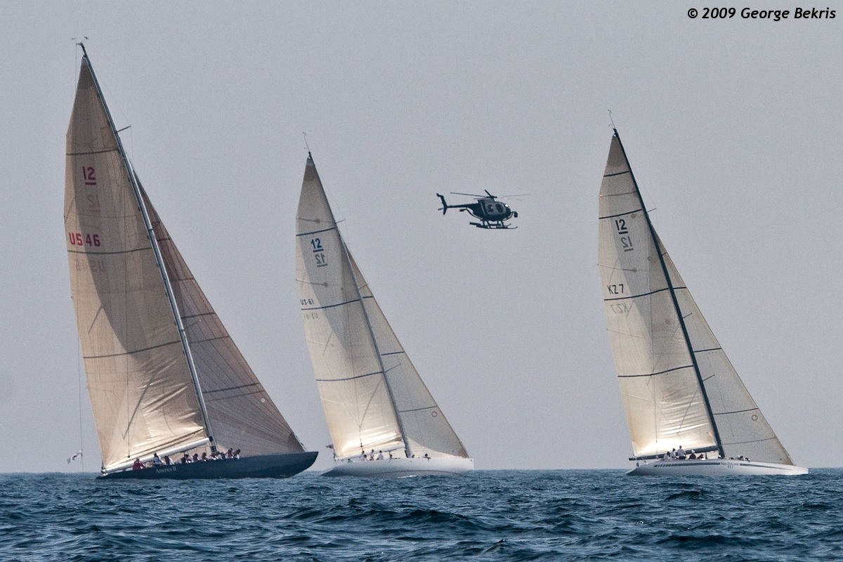 12 Metre Boats Racing Off Breton Point (Photo by George Bekris)