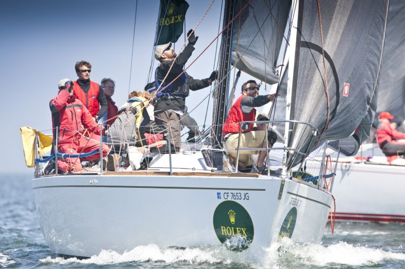 Double Bullet for Golden Moon On The First Day of The Rolex Big Boat Series ( Photo by Rolex / Daniel Forster)