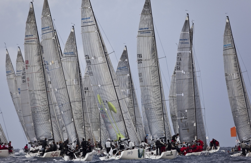 Melges Fleet Racing Off Porto Cervo, Italy