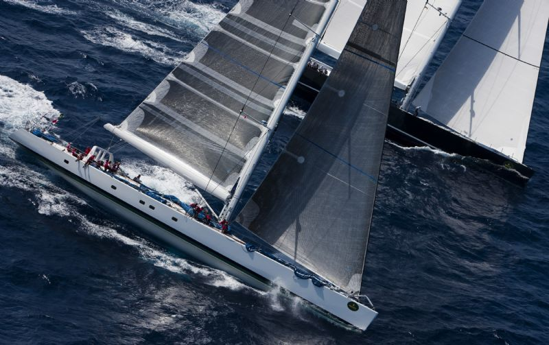 Visione In Day 2 Racing Off Porto Cervo, Italy (Photo by Carlo Borlenghi)