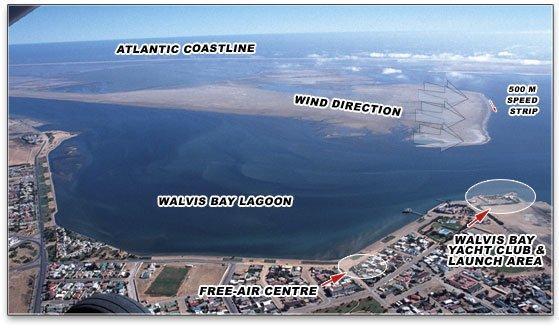 Walvis Bay (Photo courtesy of www.vestassailrocket.com)
