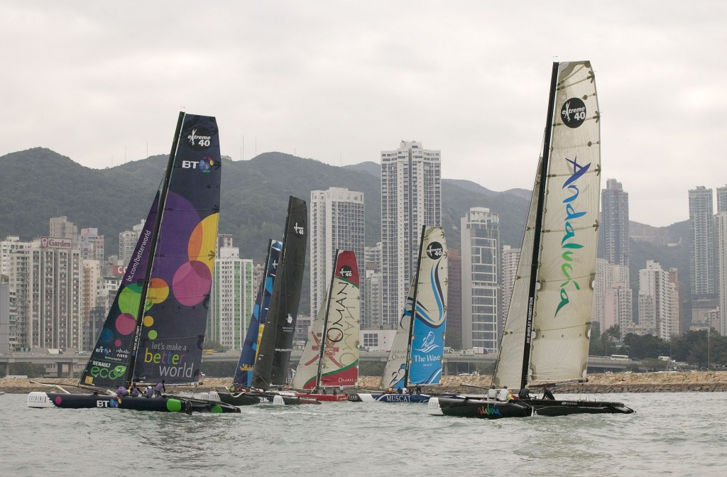 Extreme 40 Asia Series Fleet (Photo by Guy Nowell / OC Events)