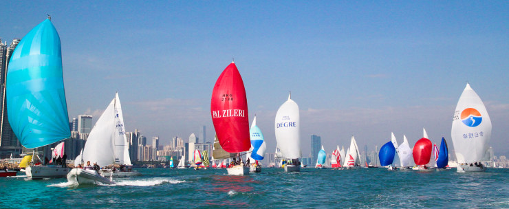 Hong Kong Round Island Race Fleet (Photo By Marco Hong/OC Events)