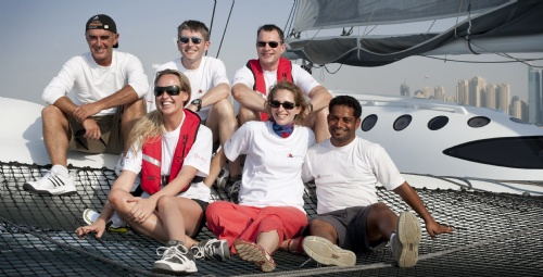 Onboard Majan (Photo by Mark Lloyd / Oman Sail)