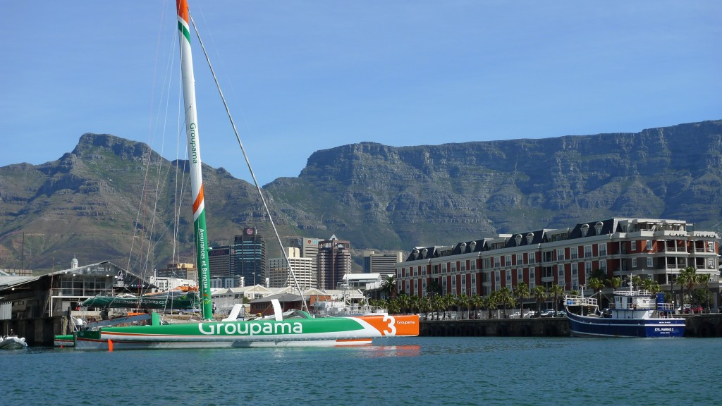 Groupama 3 In CapeTown (Photo by