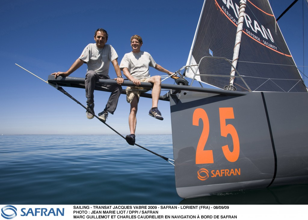 Marc Guillemot and Charles Caudrelier Skippers Of Open 60 Safran (Photo by Jean-Marie Liot / DPPI)