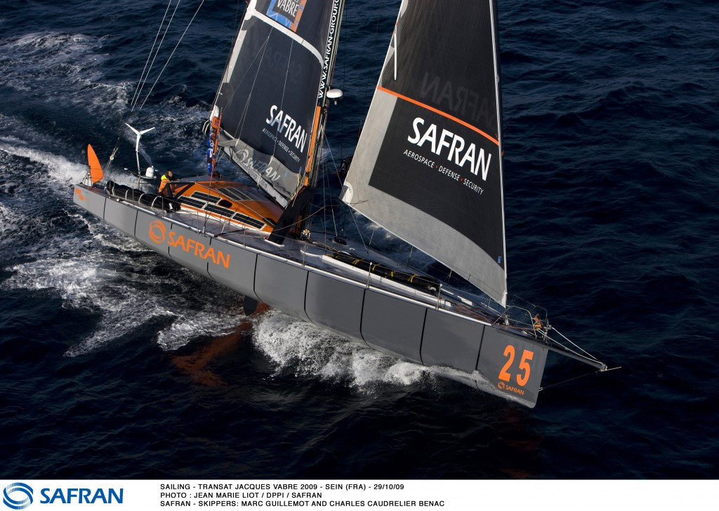 Marc Guillemot And Charles Caudrelier Benac On Safran (Photo by Jean Marie Liot / DPPI)