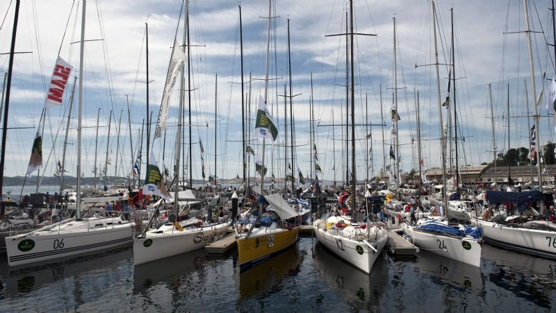 Dockside In Hobart As The Fleet Continues To Arrive (Photo by Rolex/Kurt Arrigo)