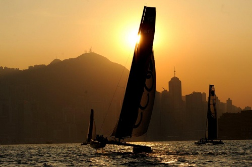 Extreme 40 Sailing In Hong Kong (Photo by Marco Hong/OC Events )
