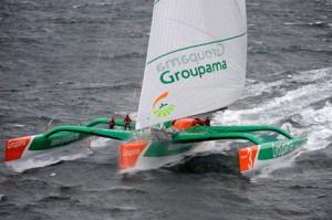 Groupama 3 Sets Sail (Photo b y Yvan Zedda