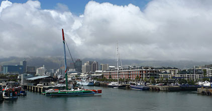 Groupama 3 In Capetown Awaiting Departure (Photo by Alain Paulhac / Welcome OnBoard)