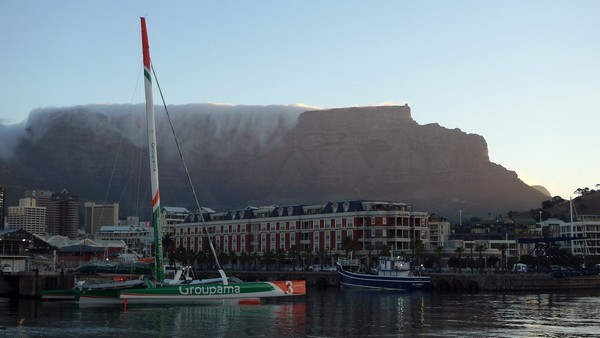 Groupama 3 In Cape Town (Photo by Alain Paulhac / Welcome on Board)