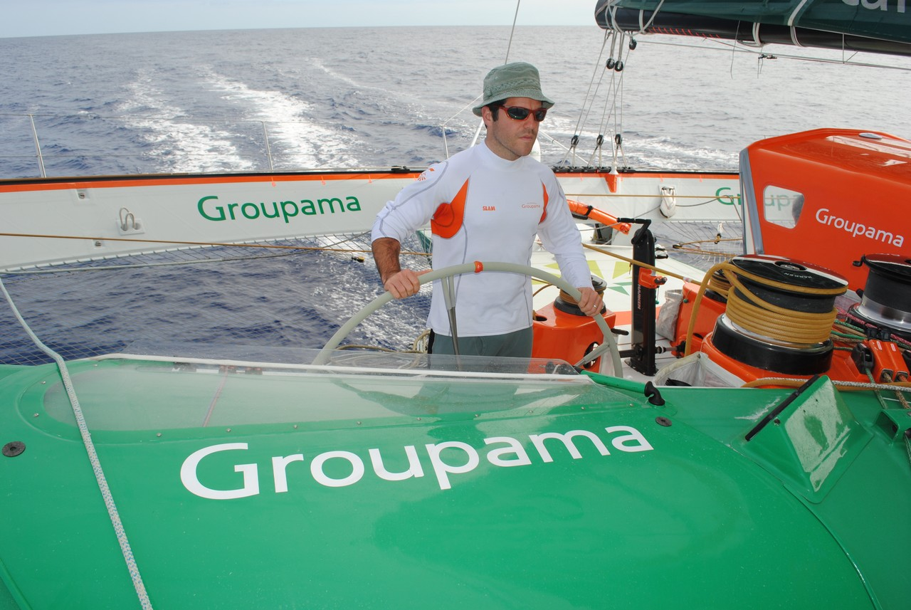 Groupama 3 On The Way To Lorient (Photo courtesy of Team Groupama)