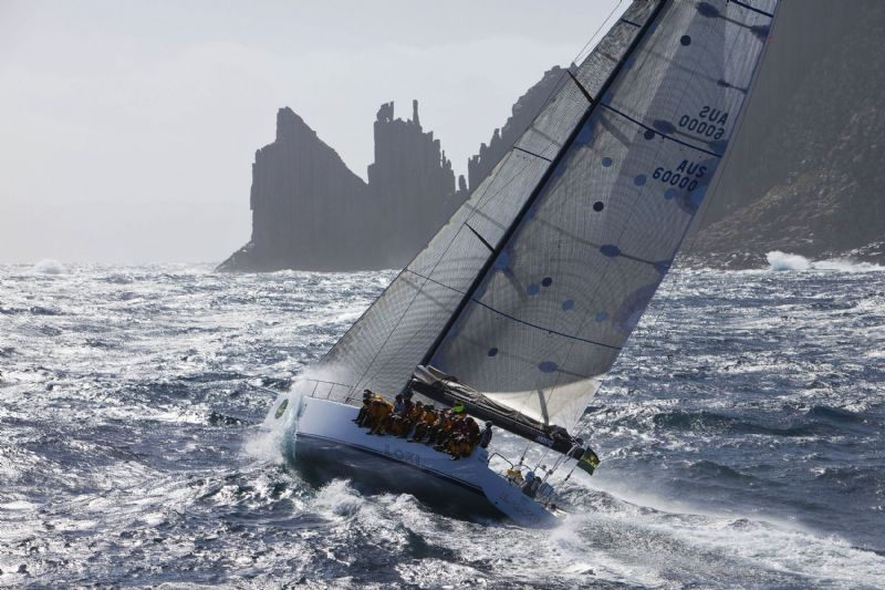 Loki, Skippered by Stephen Ainsworth Rounding Tasman Island (Photo by Rolex / Daniel Forster)
