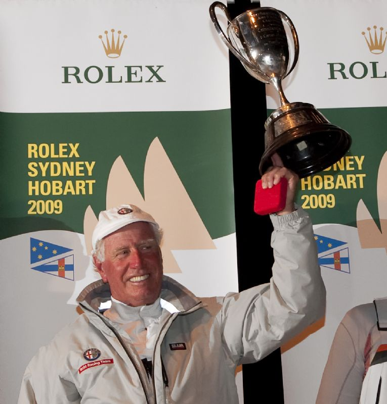 Neville Crichton receives JH Illingworth Trophy (Photo by Rolex / Kurt Arrigo)