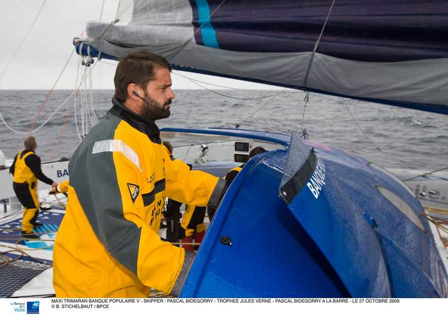 Pascal Bidegorry Skipper of Maxi Trimaran Banque Populaire V (Photo by B. Stichelbaut / BPCE)