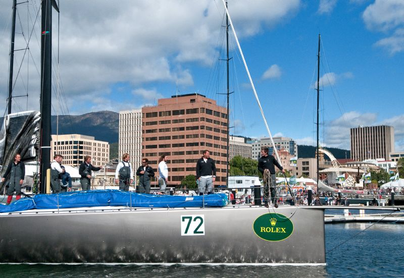 RAN , Skippered by Niklas Zennstrom at Constitution dock in Hobart, Tasmania  (Photo by Rolex/Kurt Arrigo)