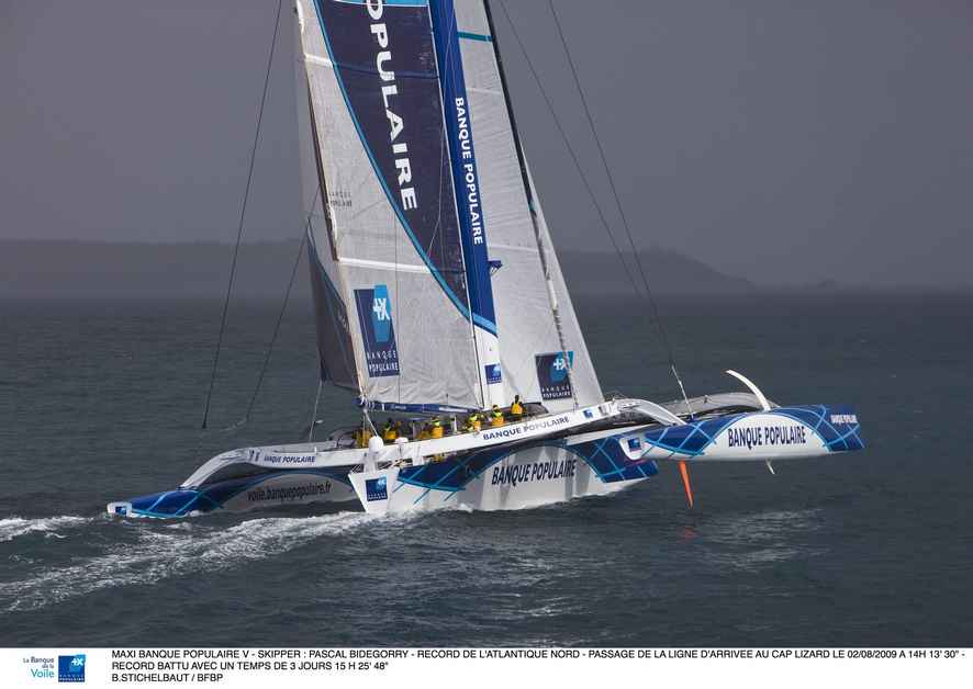 North Atlantic Record Holder Banque Populaire V, Skippered by Pascal Bidegorry (Photo by B. Stichelbaut / BPCE)