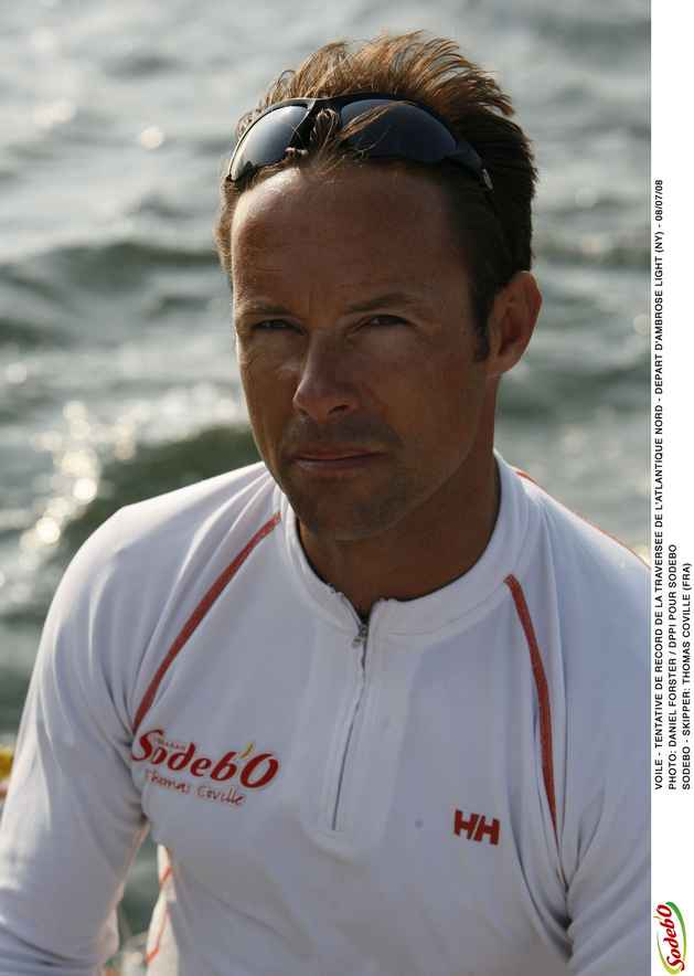 Thomas Coille, Skipper of Sodebo Transatlantic Record (Photo by Daniel Forster / DPPI)