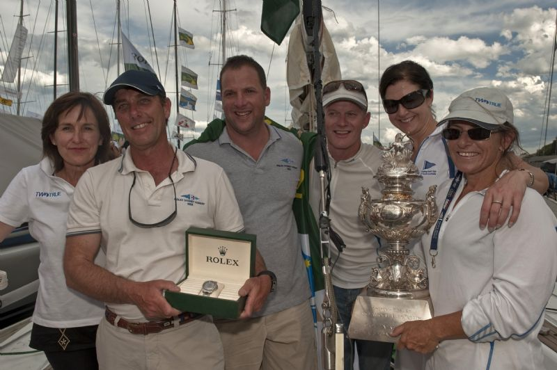 Dock Side presentation TWO TRUE, Sail Number: YC400, Skipper: Andrew Saies, State: SA, Division: IRC, Design: First 40, LOA (m): 12.24, Draft: 2.48  (Photo by Rolex/Kurt Arrigo)