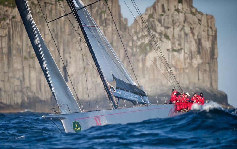 Wild Oats XI Passing Tasman Island (Photo by Rolex / Kurt Arrigo)