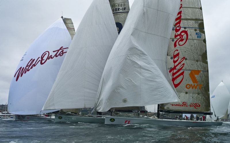 Wild Oats XI , ICAP Leopard and Alfa Romeo (Photo by Rolex/Kurt Arrigo)