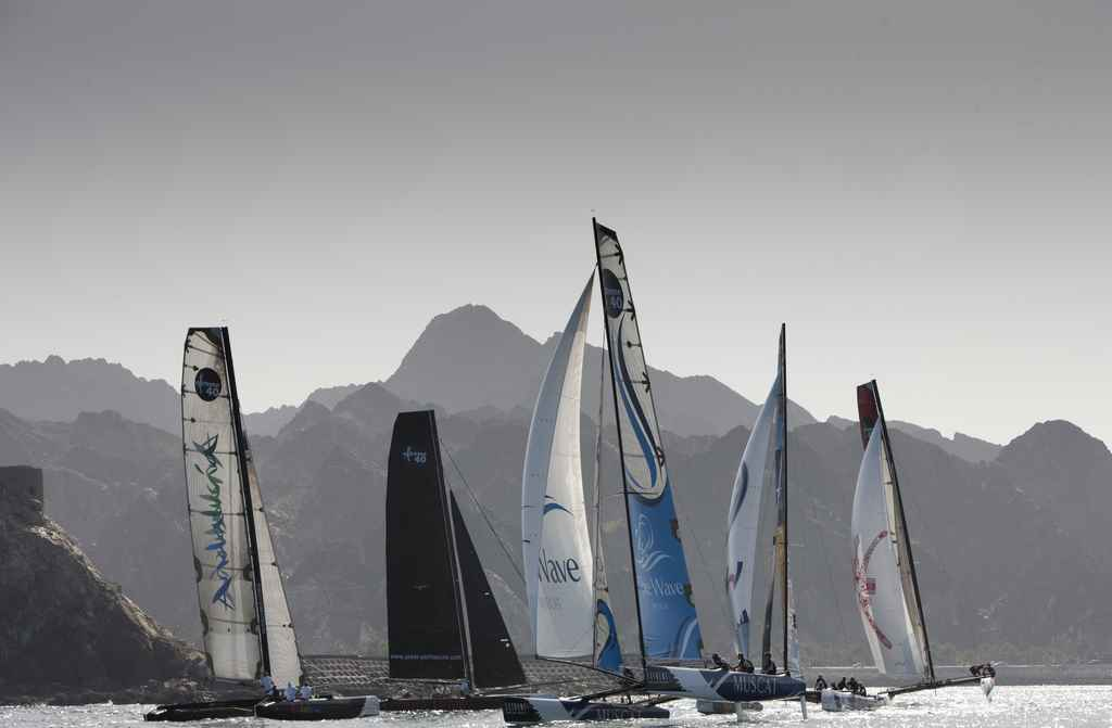 Extreme Sailing Series Asia Fleet In Muscat  (Photo by Mark Lloyd/Lloyd Images/OC Events)