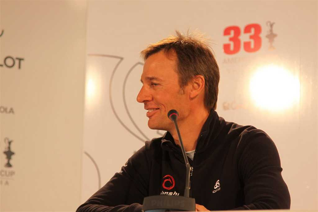Ernesto Bertarelli Speaking To The Media (Photo by Gareth Evans)
