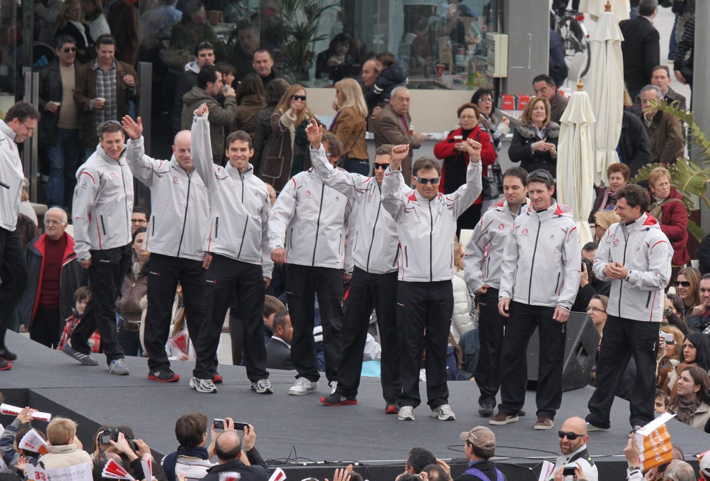 Team Alinghi (Photo by Gareth Evans)