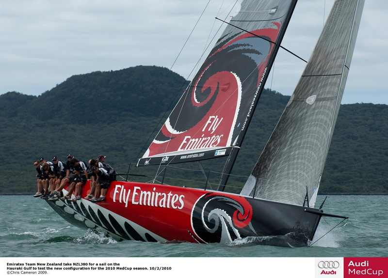 Emirates Team New Zealand (Photo by Chris Cameron/Louis Vuitton Cup Auckland))
