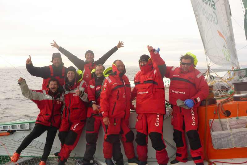 Groupama 3 Crew Off Cape Horn (Photo Courtesy Of Team Groupama)