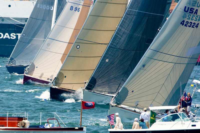 Newport Bermuda Race Start (Photo by George Bekris)