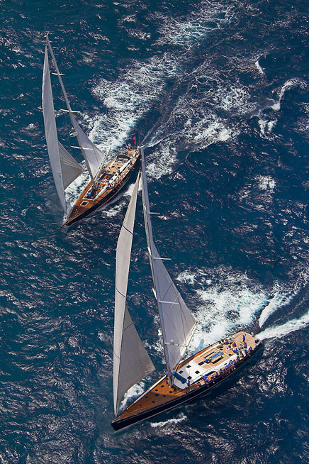 Yachts in St Barths (Photo courtesy of Laurent BENOIT / Les Voiles de Saint Barth )