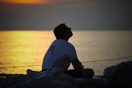 Majan Crew At Sunset (Photo by Mark Covell / Oman Sail)