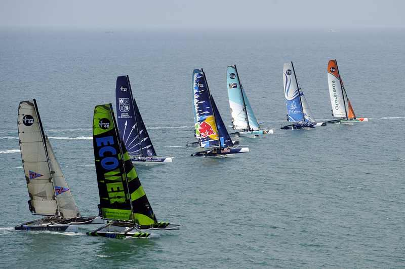 Extreme 40 Fleet In Sete, France (Photo by Vincent Curutchet / DPPI / OC Events )